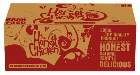 The Honest Chicken - Med Chips Box Packaging
