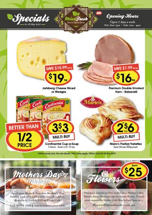 Mint Fresh - Specials A4 Leaflet