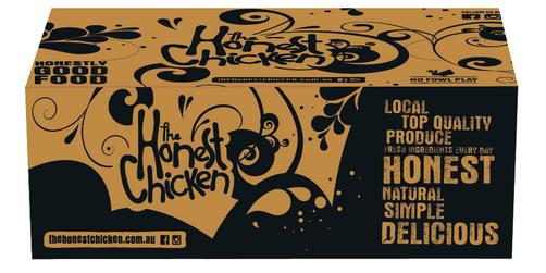 The Honest Chicken - Lrg Chips Box Packaging