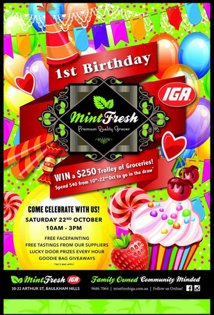 Birthday Fair Leaflet