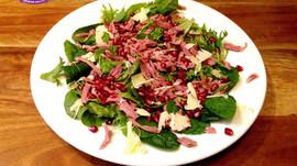 Yamo's Smoked Pulled Lamb, Mint and Pomegranate Salad