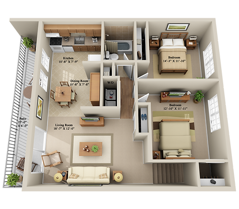 x2 BEDROOM 1 BATHROOM SECOND FLOOR.png