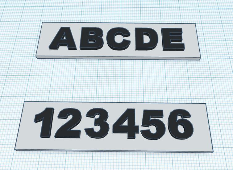Plaque de boîtes aux lettres sur mesure