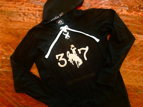 SB Black Lace Up Hoodie