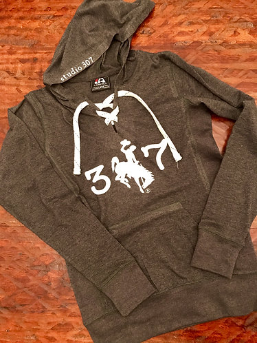 SB Charcoal Grey Lace Up Hoodie