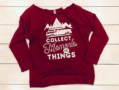 Moments Sweatshirt (Wine and White)