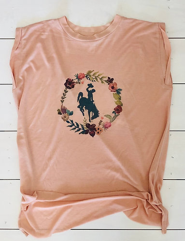 SB T-Shirt (Peach and Floral)