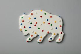 Buffalo cookie (white), 2016