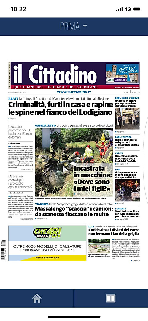 Il Cittadino del Lodigiano e Milano Sud