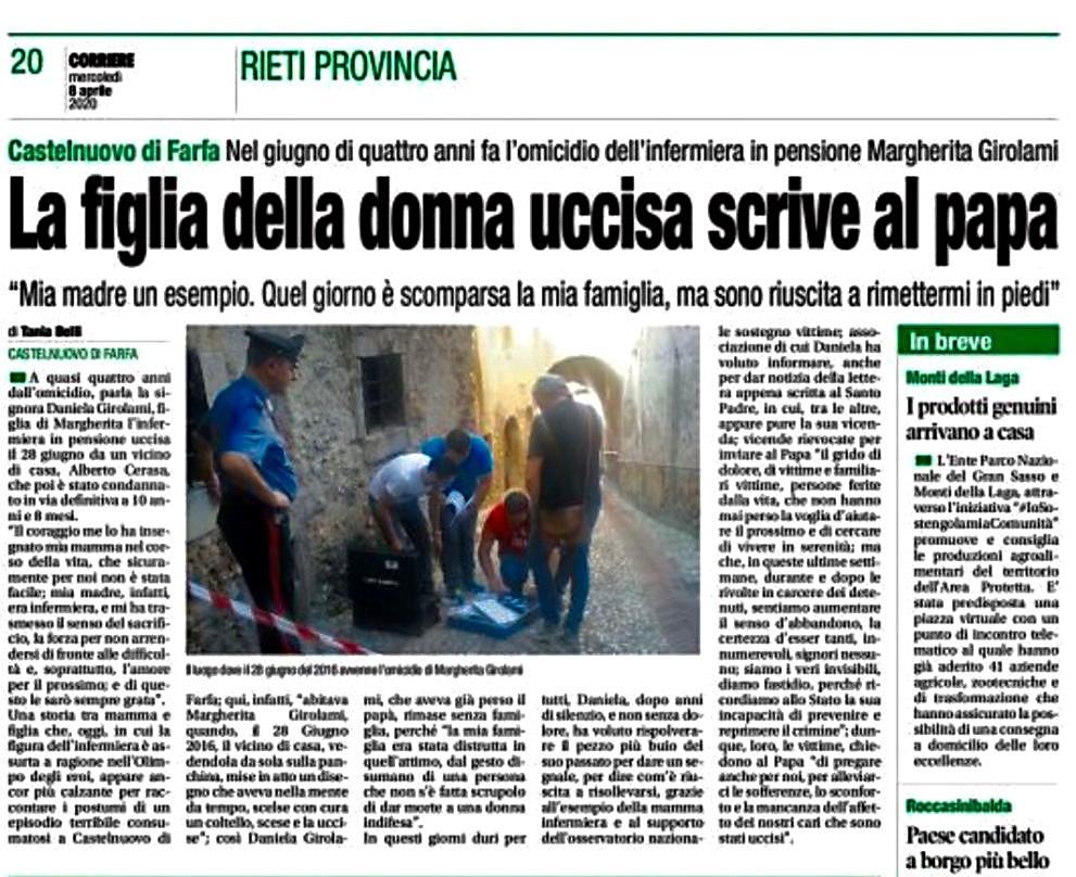 Corriere - Rieti e Provincia del 08-04-2