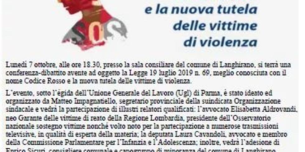 Il Codice Rosso e la nuova tutela delle vittime di violenza
