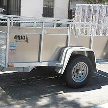 silver trailer