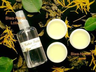 ビワの葉化粧水とクリーム