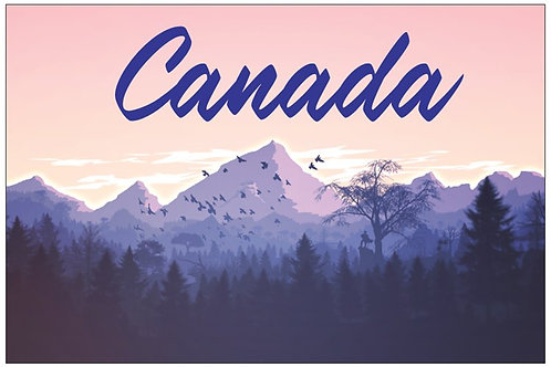 Canada - Mountain Illustration