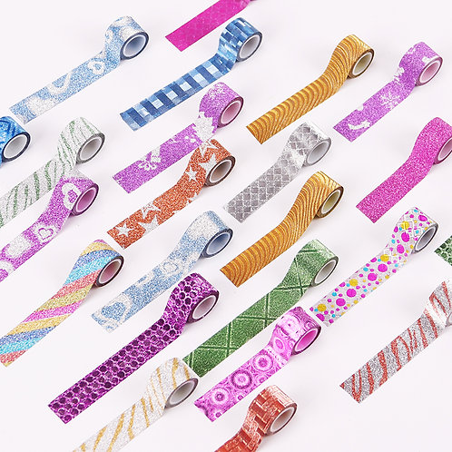 Mini Glitter Washi Tape - 4 Pack (assorted)
