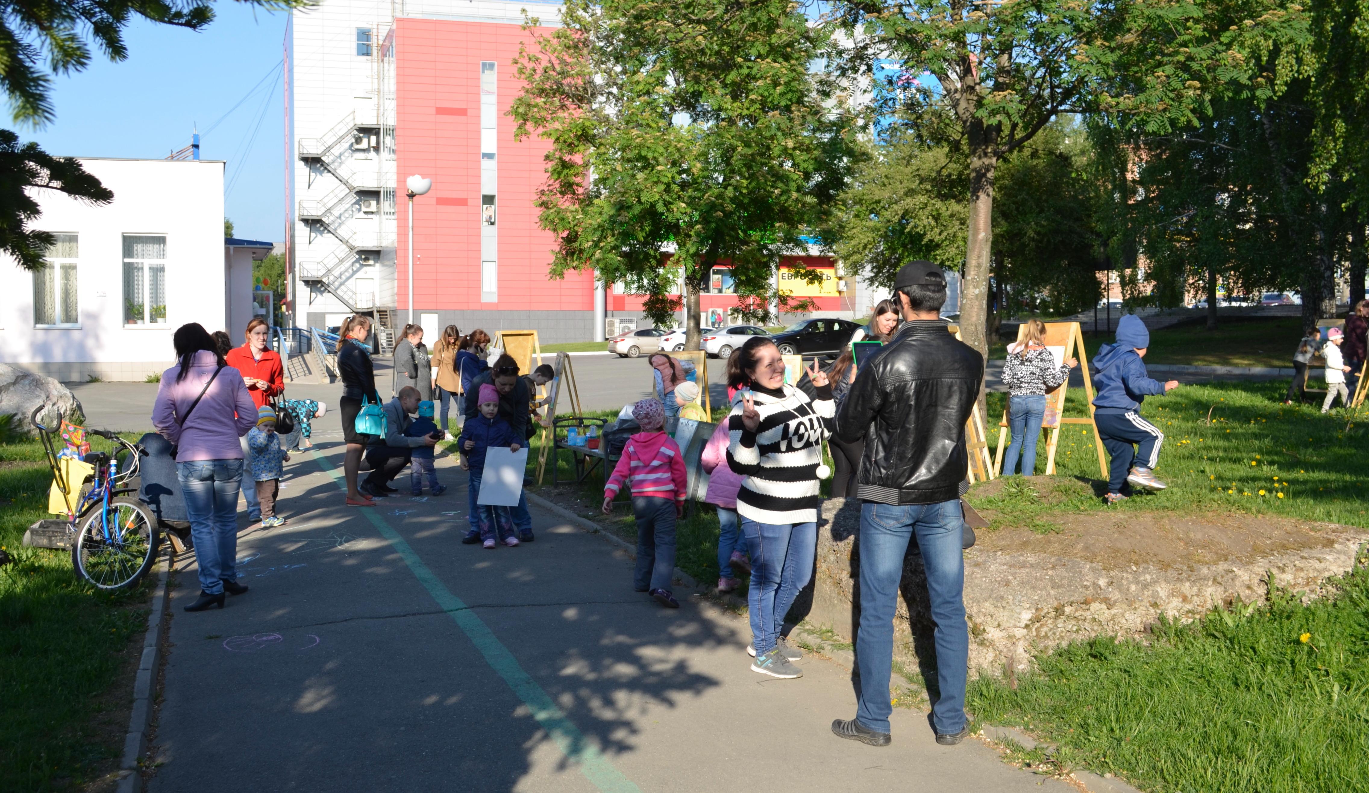 В Комсомольском сквере