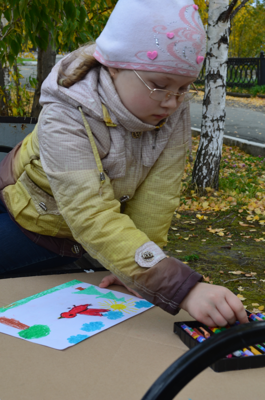 Рисуем в парке