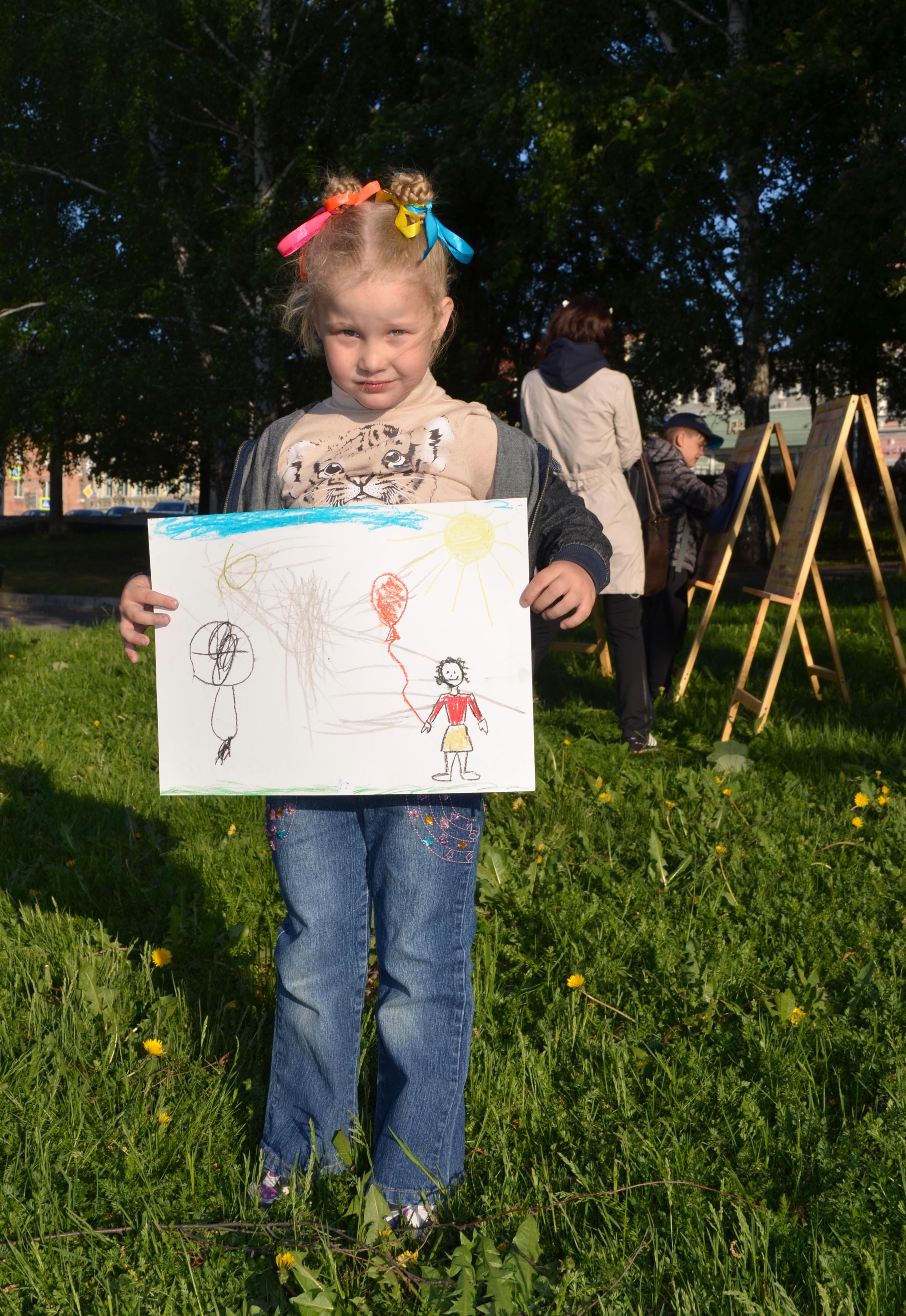 Первый рисунок в парке
