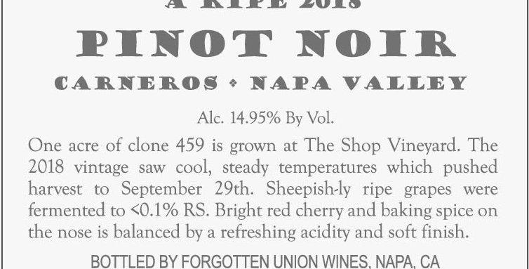 2018 Sheepish Napa Valley Carneros Pinot