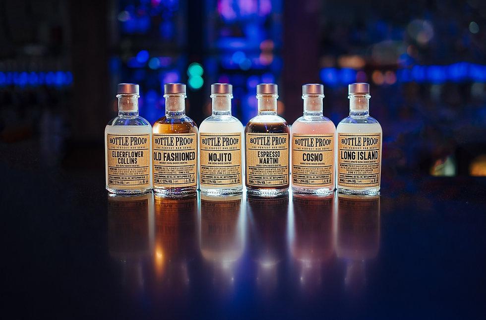 bottle proof cocktail range