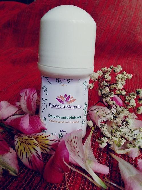 Desodorante Natural de Capim limão e lavanda