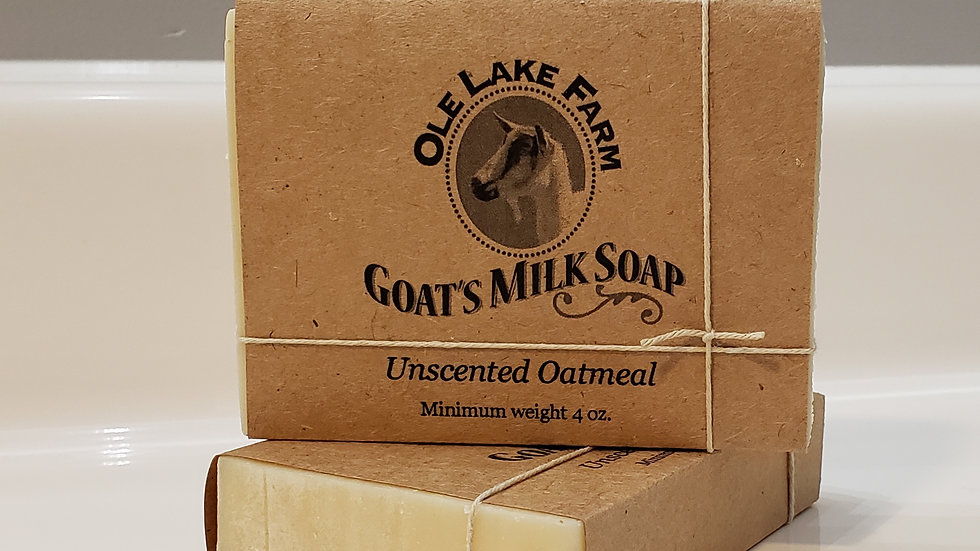 Unscented Oatmeal Goat's Milk Soap
