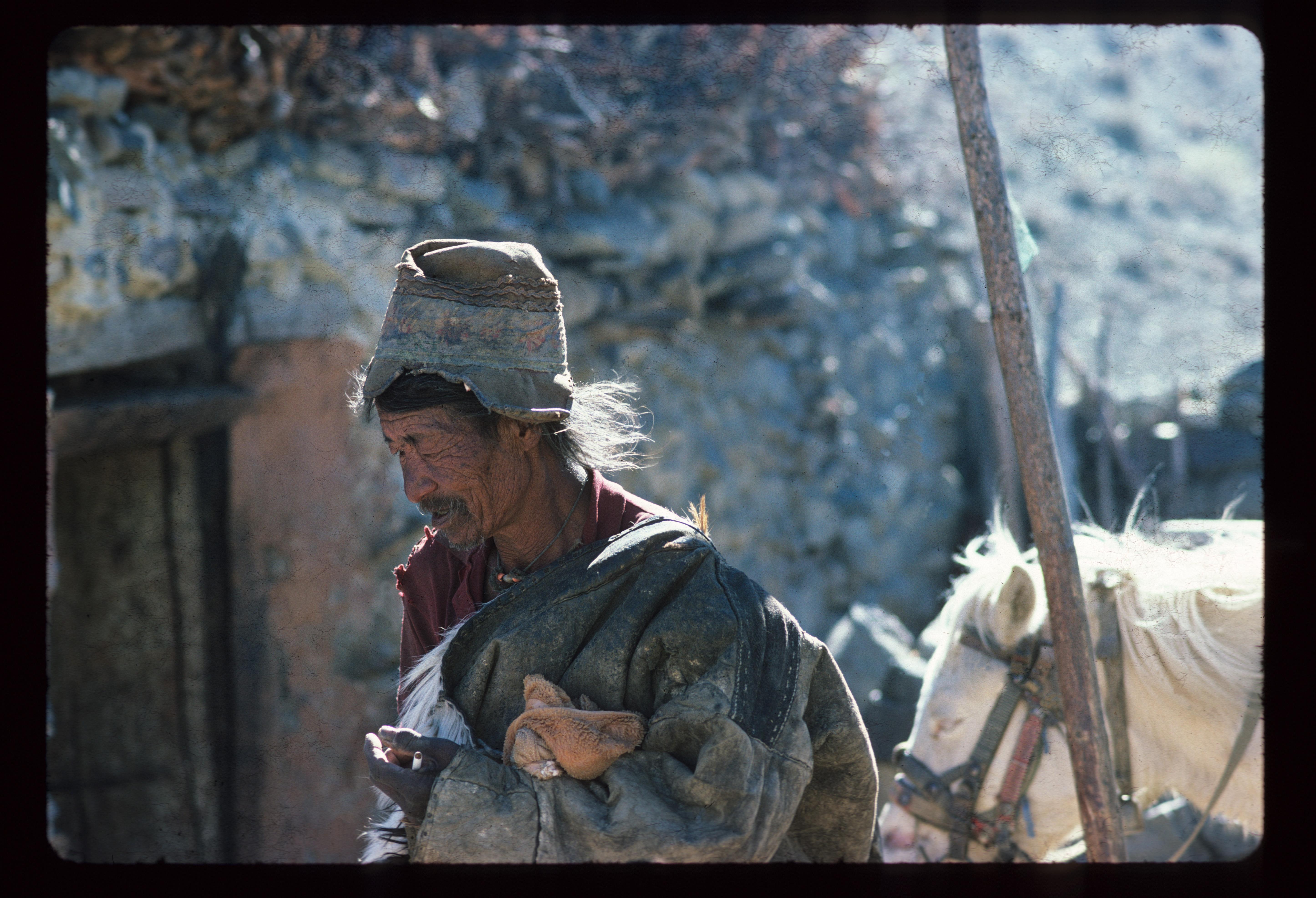 smoking tibetan