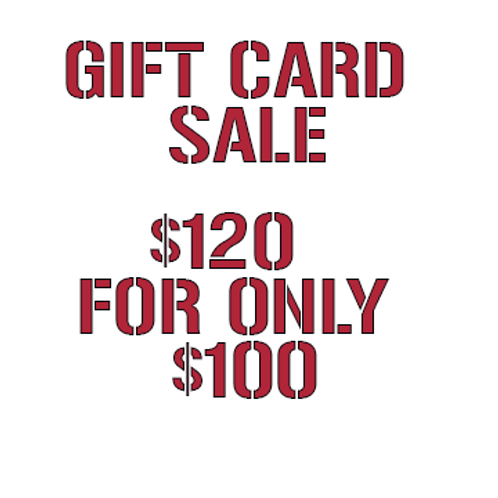 $120 Gift Card for $100