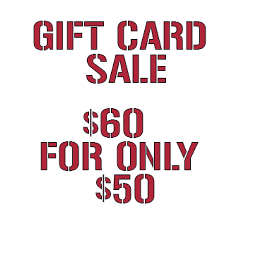 $60 Gift Card for $50
