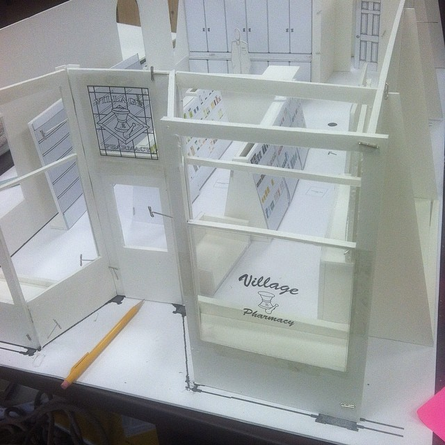 scale model for set design
