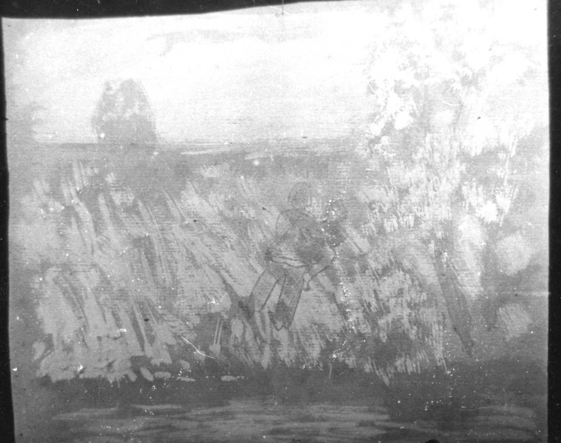 """Графика (картон, гуашь, темпера, цветные карандаши), средний размер 30х30 см. 1991 год.   Чёрно-белые репродукции из серии """"Река""""."""