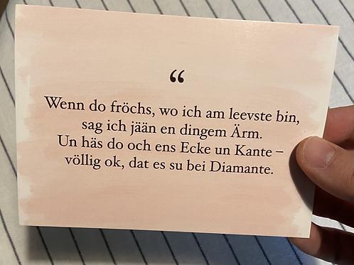 Diamante -Postkarte