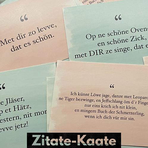 Zitate-Kaate SET 1