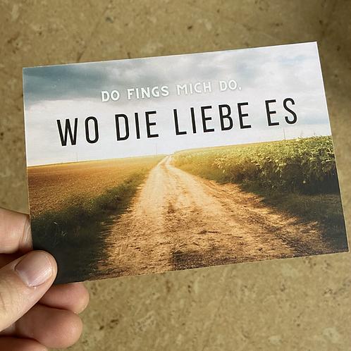 Wo die Liebe es-Postkarte