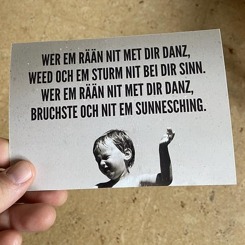 Sunnesching-Postkarte