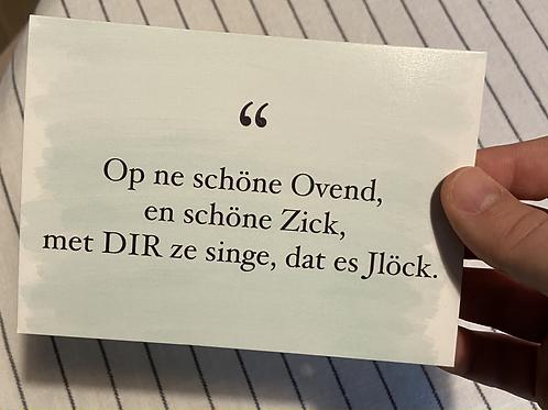 Et kölsche Jeföhl -Postkarte