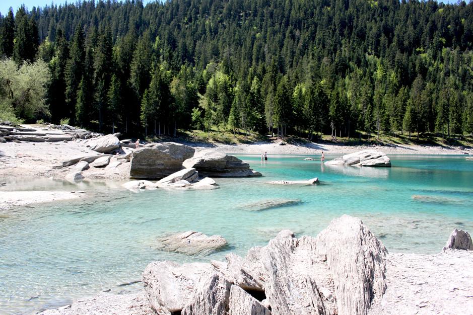 Caumasee, lac de Cauma en Suisse