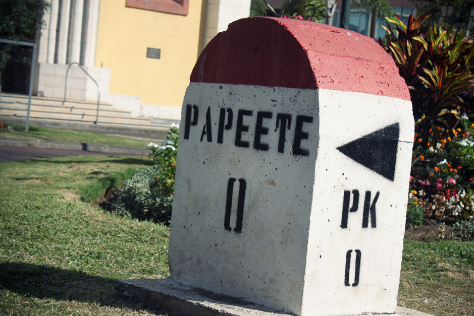 borne kilométrique - Papeete - Tahiti