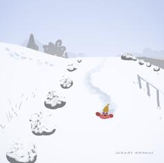 雪が降った日のカニ