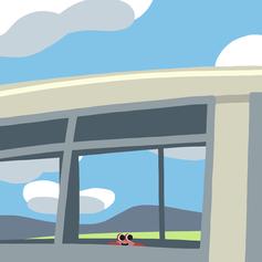 大人になってもバスのいちばん前の席に座りたいカニ