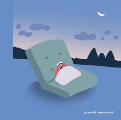 早起きして二度寝することを楽しむカニ