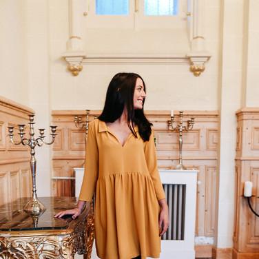 Robe Garance Ocre - 145€