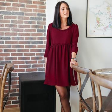 Robe Hannah Bordeaux - 125€