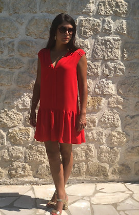 Robe Olympe coquelicot