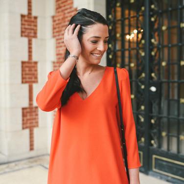 Robe Gaia rouge- 125€