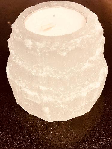 Selenite Candleholder