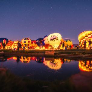 Balloon Glow Reflection