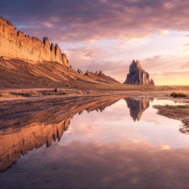 Shiprock Reflection