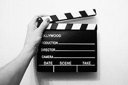 a video editing movie clacker