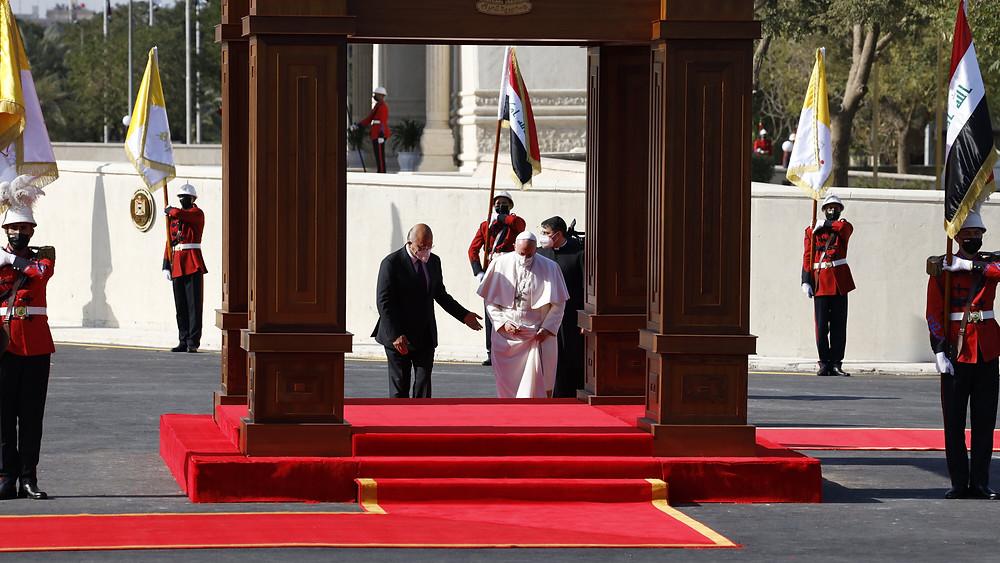 Pope Francis and Mustafa al-Kadhimi